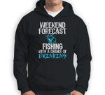 Weekend Forecast Fishing With A Chance Of Drinking Christmas Sweatshirt & Hoodie