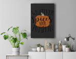 Whatevers Spices Your Pumpkin Halloween Scary Party Premium Wall Art Canvas Decor