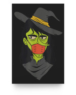Funny Witch Halloween Mask Matter Poster