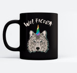 Funny Wolficorn Unicorn Wolf Halloween Party Easy Costume Ceramic Coffee Black Mugs