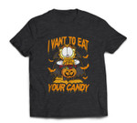 Garfield Halloween I Want To Eat Your Candy T-shirt