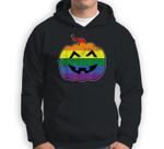 Gay Pumpkin Lazy Halloween Costume LGBT-Q Pride Rainbow Flag Sweatshirt & Hoodie