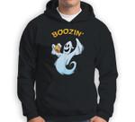 Ghost Beer Costume Boozin Party Funny Halloween Drinking Sweatshirt & Hoodie