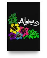 Aloha Hawaii Hawaiian Tropical Beach Luau Matter Poster