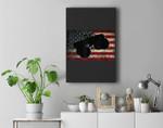 American Flag Big Style Truck Monster Size Car Fans Premium Wall Art Canvas Decor