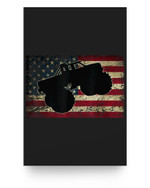 American Flag Big Style Truck Monster Size Car Fans Matter Poster