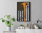American Flag Firefighter Lazy DIY Halloween Costume Fireman Premium Wall Art Canvas Decor