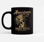 American Native Indian American Motorcycle Gift Ceramic Coffee Black Mugs