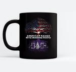 American Raised with Iroquois Roots Ceramic Coffee Black Mugs