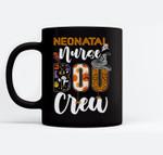 Neonatal Nurse Boo Crew Ghost Funny Halloween RN Matching Ceramic Coffee Black Mugs