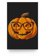 Nerdy Pumpkin Nerd Halloween Pumpkin Nerd Glasses Matter Poster