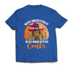 Never Underestimate Woman And Goats Witch Farmer Halloween T-shirt