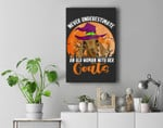 Never Underestimate Woman And Goats Witch Farmer Halloween Premium Wall Art Canvas Decor
