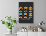 Nope Face Mask Lazy DIY Halloween Costume Teacher Life 2021 Premium Wall Art Canvas Decor