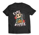 Evil Kittie Cat funny Pumpkin Halloween Costume T-shirt
