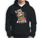 Evil Kittie Cat funny Pumpkin Halloween Costume Sweatshirt & Hoodie