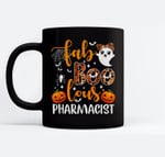 faBoolous Pharmacist Phamarcy Tech Halloween Pharmacist Gift Ceramic Coffee Black Mugs