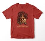 Steampunk Halloween Costumes Jack O Lantern Pumpkin Face T-shirt