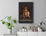 Steampunk Halloween Costumes Jack O Lantern Pumpkin Face Premium Wall Art Canvas Decor