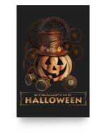 Steampunk Halloween Costumes Jack O Lantern Pumpkin Face Matter Poster
