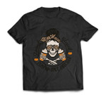 Stressed Blessed Pumpkin Spice Obsessed Halloween Skeleton T-shirt