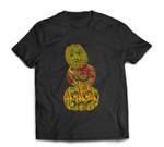 Stumbling Stacked Pumpkins Kente African Print Halloween T-shirt