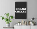 Cream Cheese Halloween Costume Cute Funny Party Premium Wall Art Canvas Decor