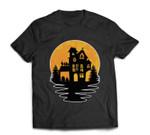 Creepy Vintage Spooky Haunted House Castle Halloween Costume T-shirt
