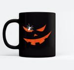 Jack O Lantern Pumpkin Creepy Smiling Face Halloween Costume Ceramic Coffee Black Mugs