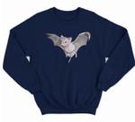Kawaii Aesthetic Y2K Halloween Witchy Flying Bat Sweatshirt & Hoodie