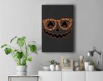Halloween Pumpkin Face Spooky With Leopard Glasses Premium Wall Art Canvas Decor