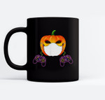 Halloween pumpkin mask video game Ceramic Coffee Black Mugs