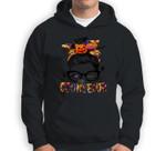 Halloween Pumpkins Counselor Messy Bun Funny Halloween Sweatshirt & Hoodie