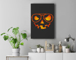 Pumpkin Lazy Halloween Costume - Jackolnatern Face Premium Wall Art Canvas Decor