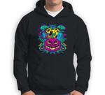 Pumpkin Monster Gravestone Cross Bat Halloween Party Gift Sweatshirt & Hoodie