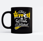 This Witch Is Getting Hitched Halloween Bachelor Wedding Ceramic Coffee Black Mugs