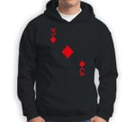 Three of Diamonds Costume Halloween Deck of Cards Sweatshirt & Hoodie