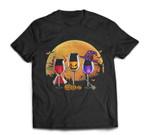Three wine glasses Halloween Pumpkin Halloween gifts T-shirt