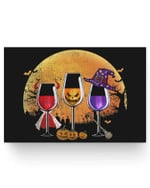 Three wine glasses Halloween Pumpkin Halloween gifts Matter Poster