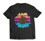 TIE DYE SUNFLOWER Peace Love 60s 70s Hippie Retro Vintage T-shirt