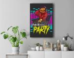 Time To Party Pumpkin DJ, Happy Halloween 2021 Premium Wall Art Canvas Decor