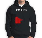Funny I'M Fine Blood Bloody Really Scary Creepy Horror Sweatshirt & Hoodie