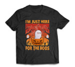 Funny I'm Just Here For The Boos Halloween Ghost Cute T-shirt