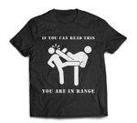 Funny Martial Arts - Kick In Range - White Ink T-shirt