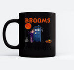 Brooms Are For Amateurs Funny Halloween Tar.dis Ceramic Coffee Black Mugs