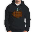 Buffalo Plaid Pumpkin Fall Halloween Orange Pumpkin Sweatshirt & Hoodie