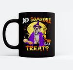 Bulldog Dog Halloween Did Someone Say Treat Ceramic Coffee Black Mugs
