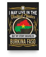 Burkina Faso live in united states Matter Poster