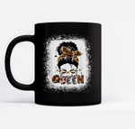 Messy Bun Sunglasses Pumpkin Queen Halloween Costume Ceramic Coffee Black Mugs