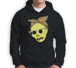 Messy Bun Zombie Skeleton Halloween Costume Party Sweatshirt & Hoodie